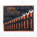 آچار کیفی یکسر روکشدار 12 عددی titan
