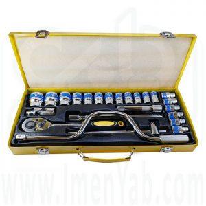 جعبه بکس 24 پارچه هندل دار سفید King Tools