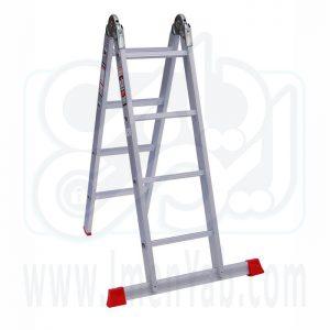 نردبان تاشو 2 تکه 8 پله هارمونی