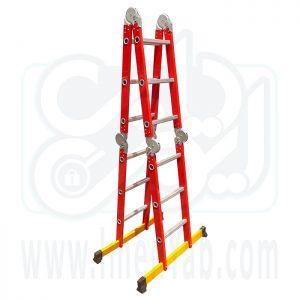 نردبان تاشو 4 تکه 12 پله آلوم کار