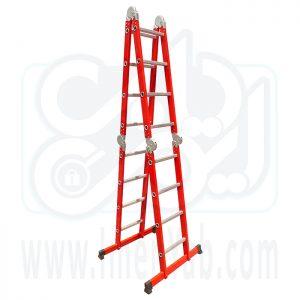نردبان تاشو 4 تکه 16 پله آلوم کار