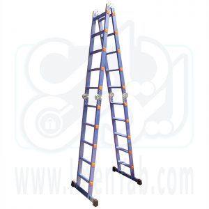 نردبان تاشو 4 تکه 20 پله آلوم کار