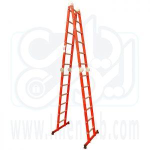 نردبان تاشو 4 تکه 24 پله آلوم کار
