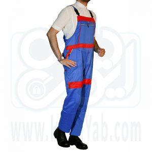 لباس کار دوبنده آبی قرمز
