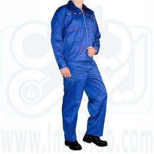 لباس کار دوتکه آبی