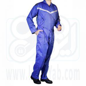 لباس کار یکسره آبی