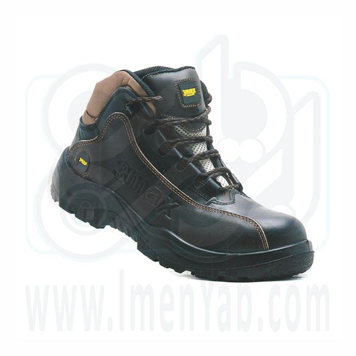 کفش ایمنی اسپرت قهوه ای مشکی 3max