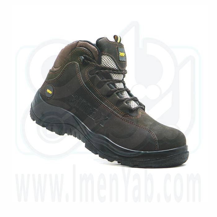 کفش ایمنی مهندسی میکروفیبر قهوه ای 3max