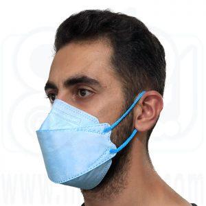 ماسک سه بعدی 5 لایه آبی